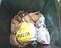 Resultat tömning av matavfallskärl på Körsångarvägen